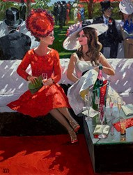 Champagne Moments by Sherree Valentine Daines - Original Painting on Board sized 20x26 inches. Available from Whitewall Galleries